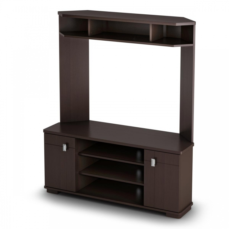 Vertex Corner TV Unit - Chocolate - South Shore