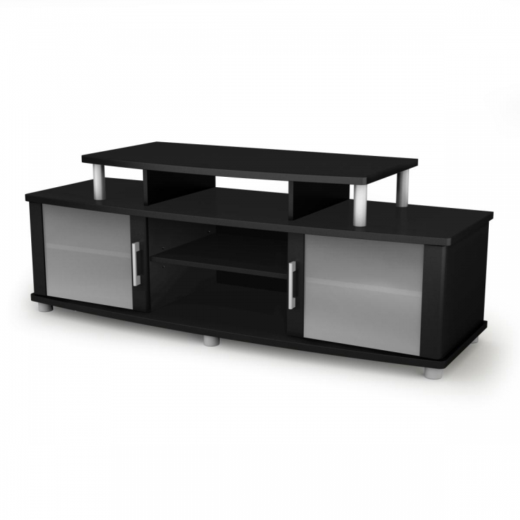 City Life TV Stand - Pure Black - South Shore