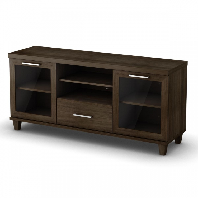 Adrian TV Stand Matte - Brown - South Shore