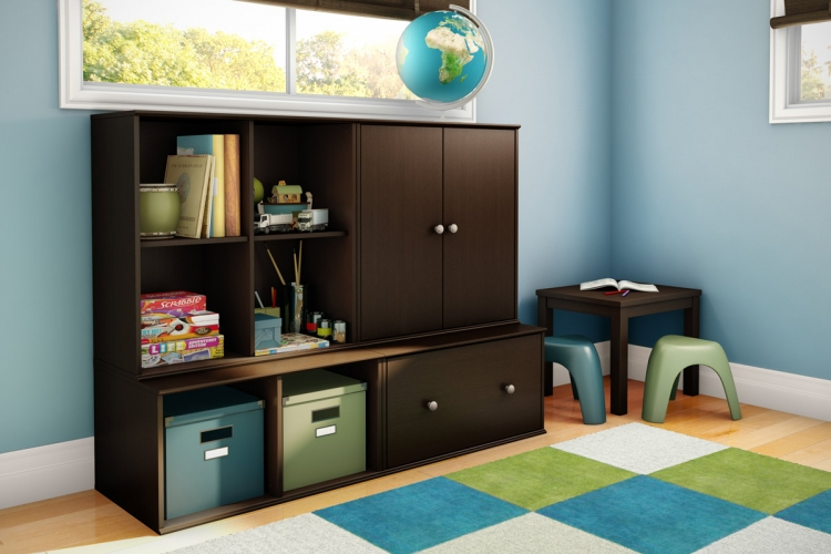 Stor It Cubby Storage Drawer Set - Chocolate - South Shore