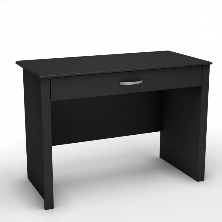 Work ID Secretary Desk - Pure Black - South Shore