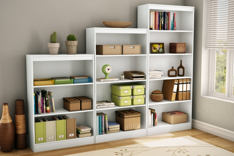 Bookcase Set - Pure White - South Shore