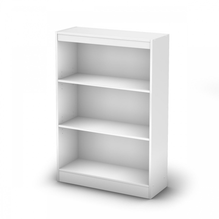 3-Shelf Bookcase - Pure White - South Shore