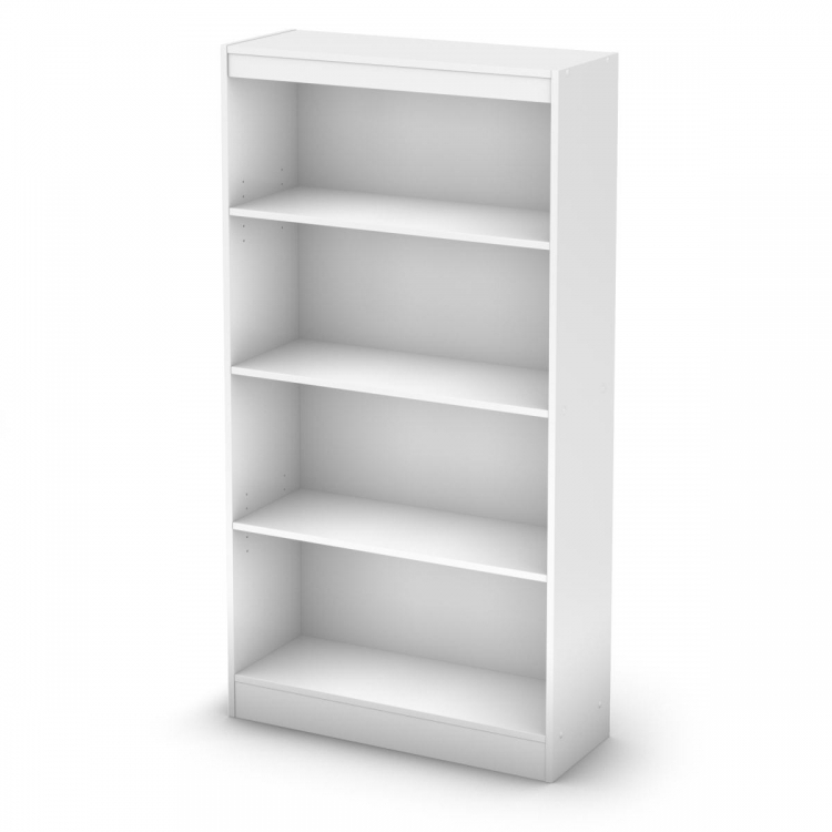 4-Shelf Bookcase - Pure White - South Shore