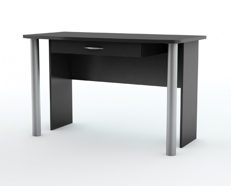 City Life Solid Black Office Desk - South Shore