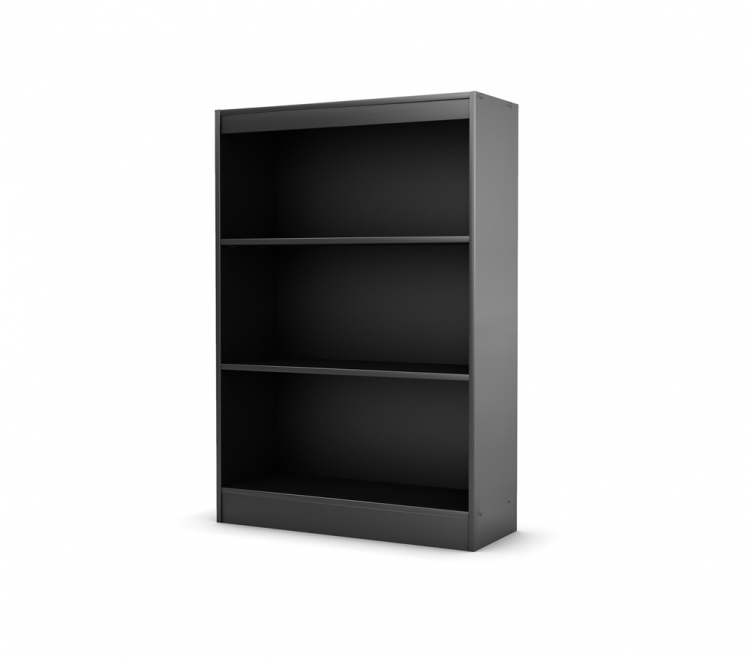 City Life 45 Inch Height Solid Black Shelf Bookcase - South Shore