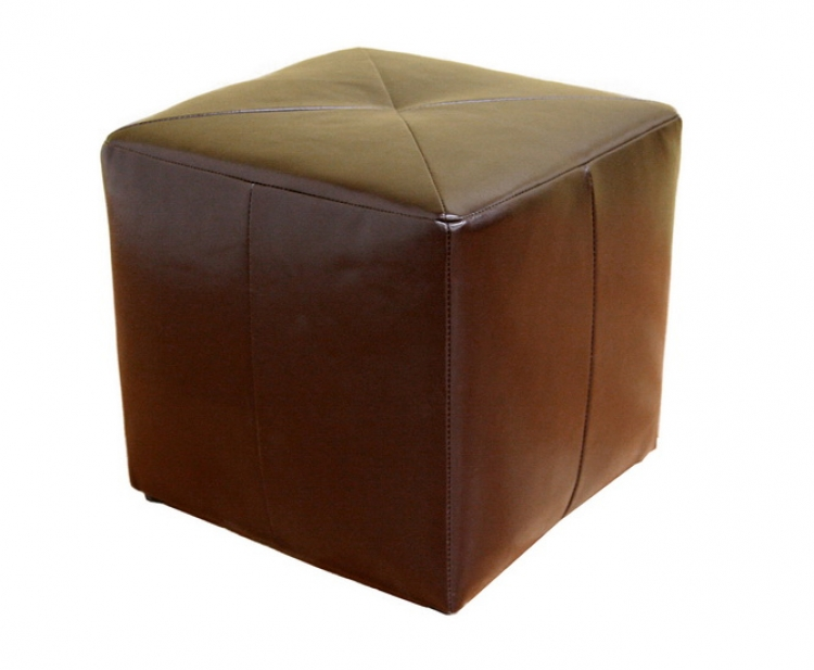 ST-20 Bonded Leather Square Ottoman