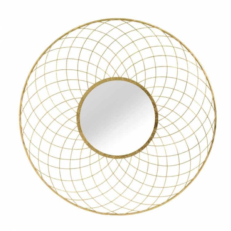 Shellby Wall Mirror - Gold