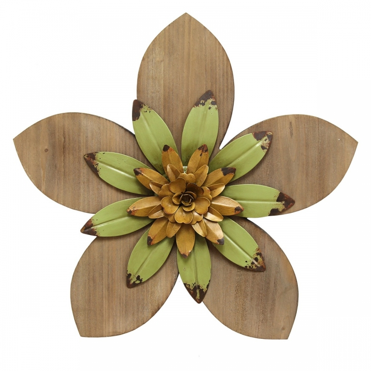 Rustic Flower Wall Decor - Multi