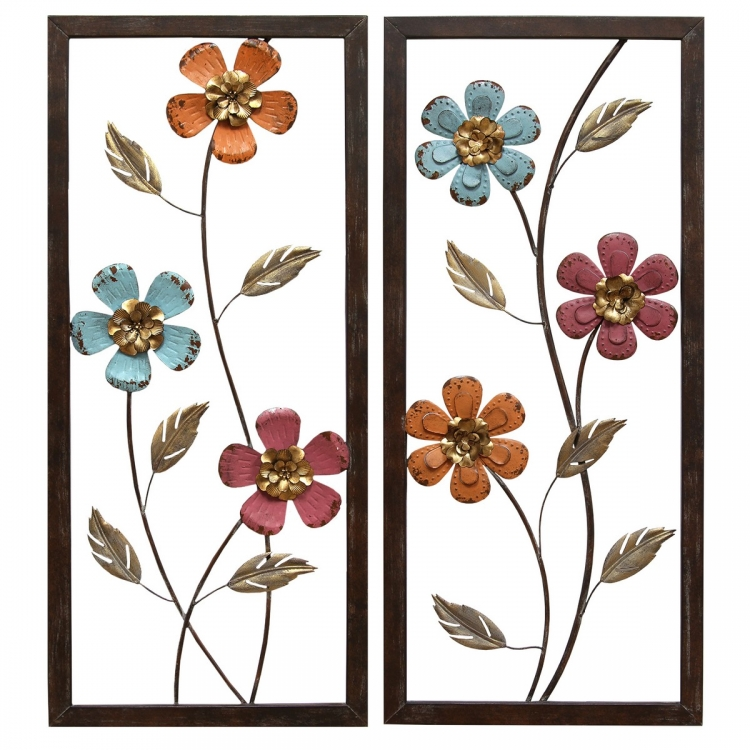 Floral Panel Wall Decor - Multi