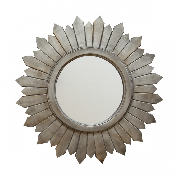 Madilyn Wood Mirror - Silver