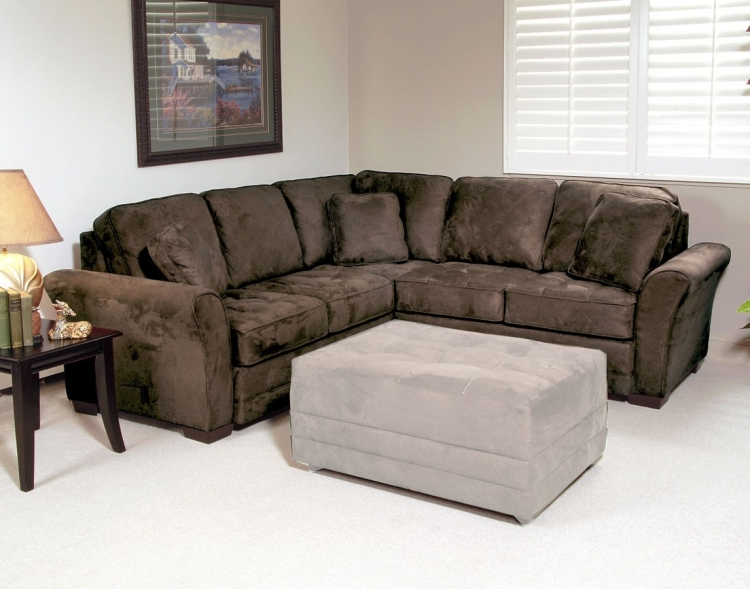 Rosa 2pc. Sectional Sofa - Padded Walnut - Serta Upholstery