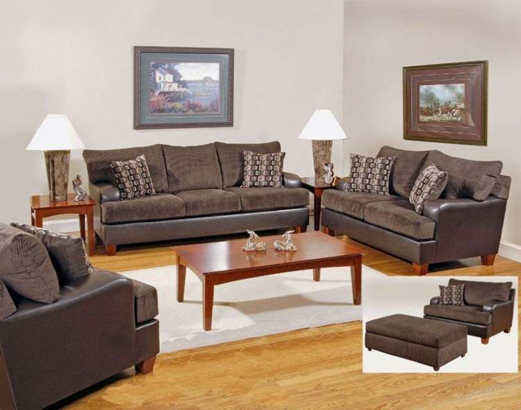 Annabelle Sofa Set - Chocolate - Serta Upholstery