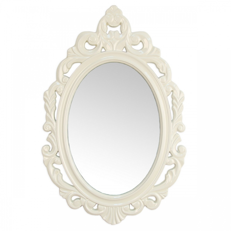 White Baroque Mirror - White