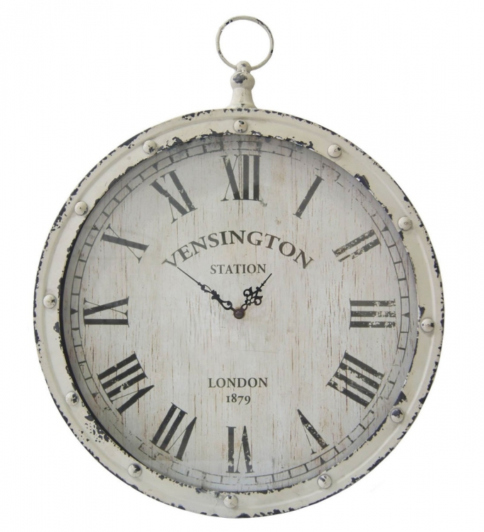Pocket Watch Wall Clock - White