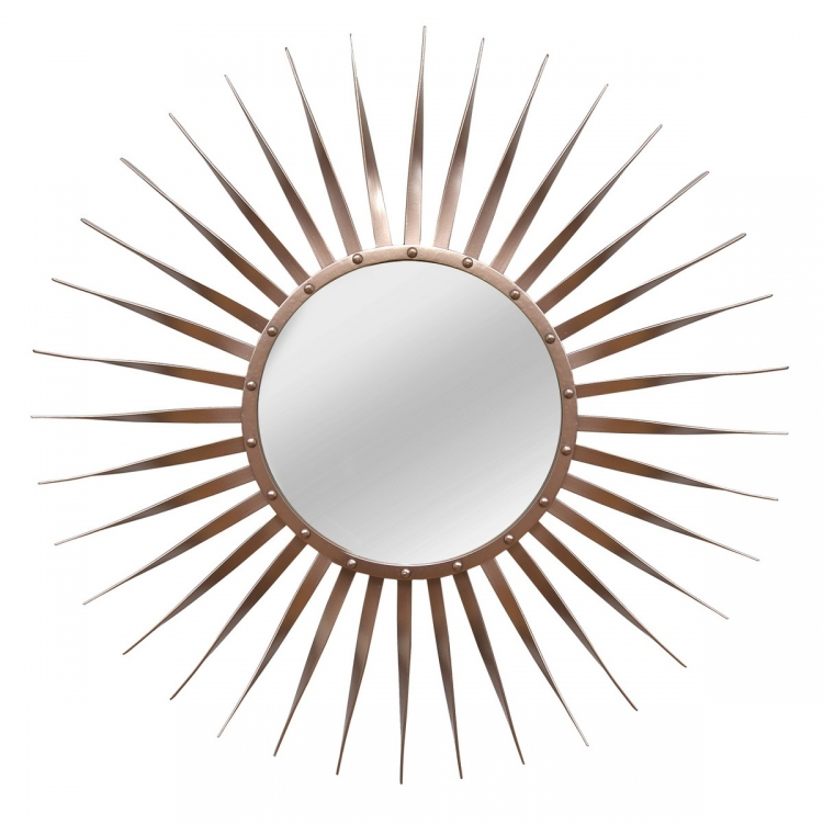Rose Wall Mirror - Bronze
