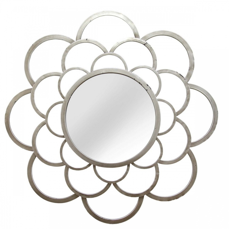 Denisse Wall Mirror - Silver