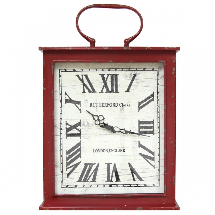 Vintage Red Wall Clock - Red
