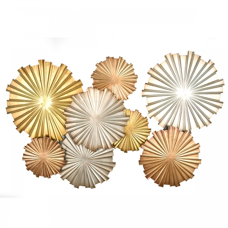Multi-Metallic Circles Wall Decor - Multi