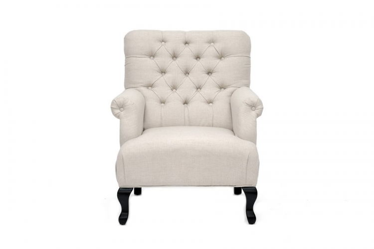 York Beige Linen Club Chair