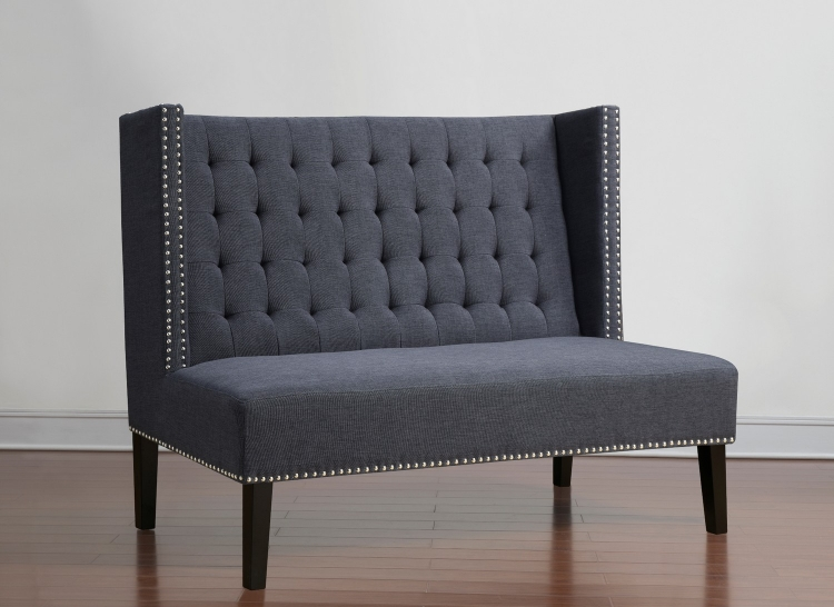 Halifax Grey Linen Banquette Bench