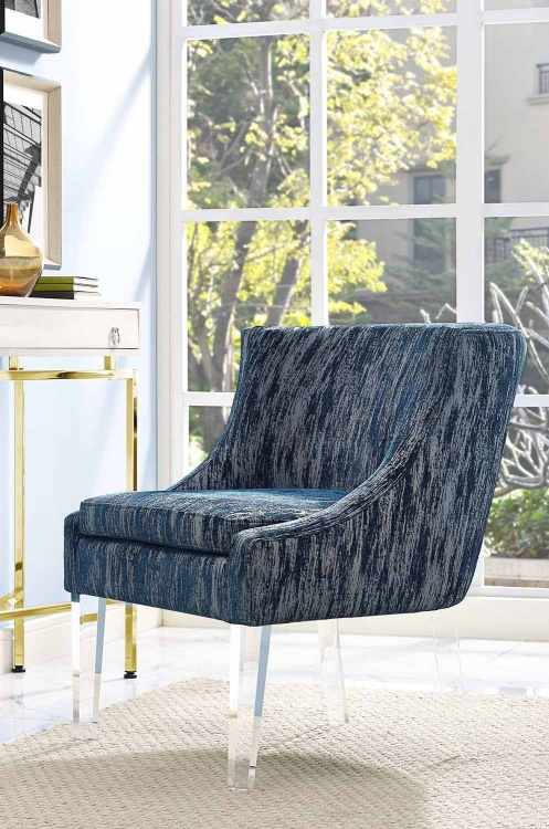 Myra Velvet Chair - Blue