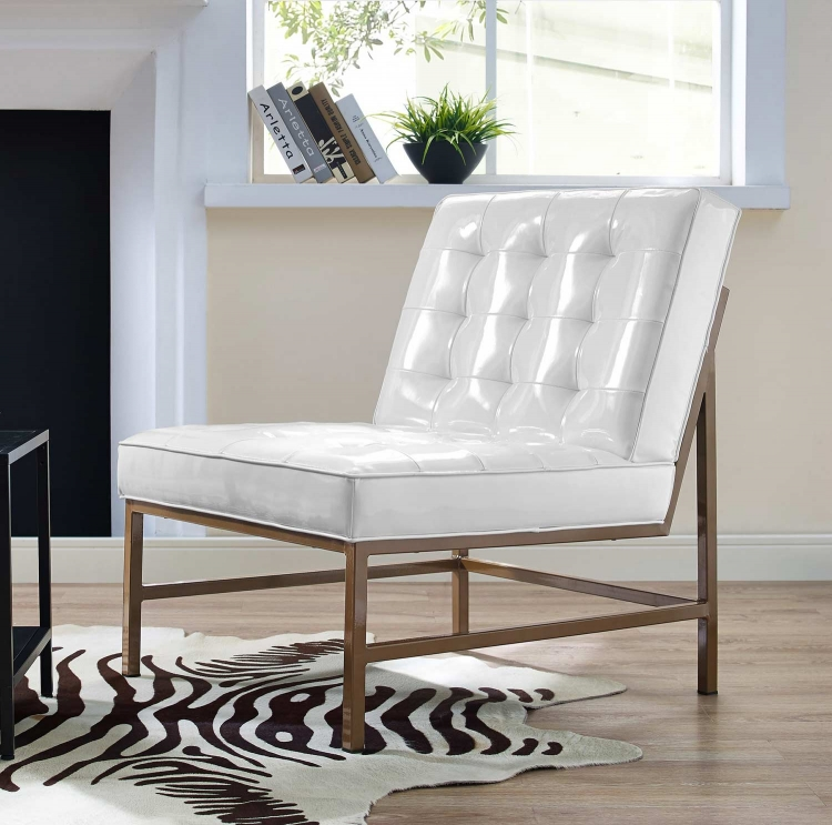 Jed Leather Chair - White