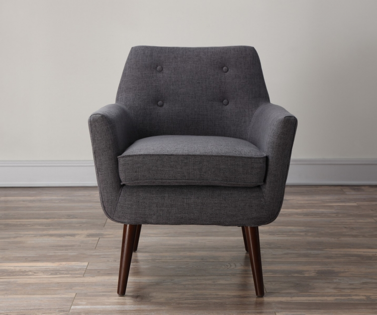 Clyde Grey Linen Chair