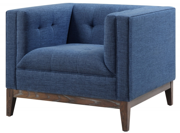 Gavin Blue Linen Chair