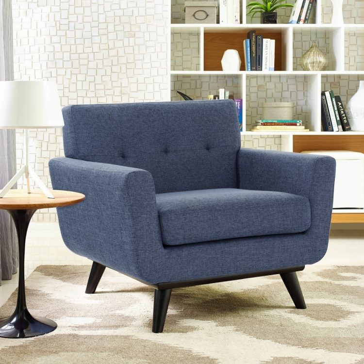 James Blue Linen Chair