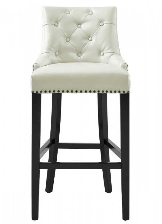 Uptown Cream Leather Barstool