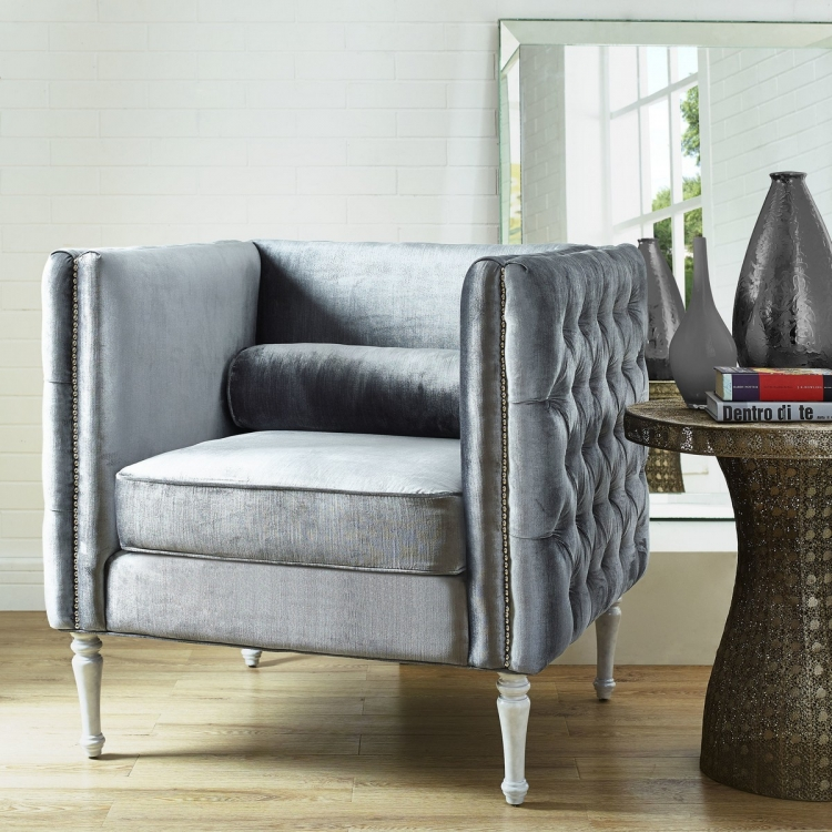 Bryn Grey Velvet Chair