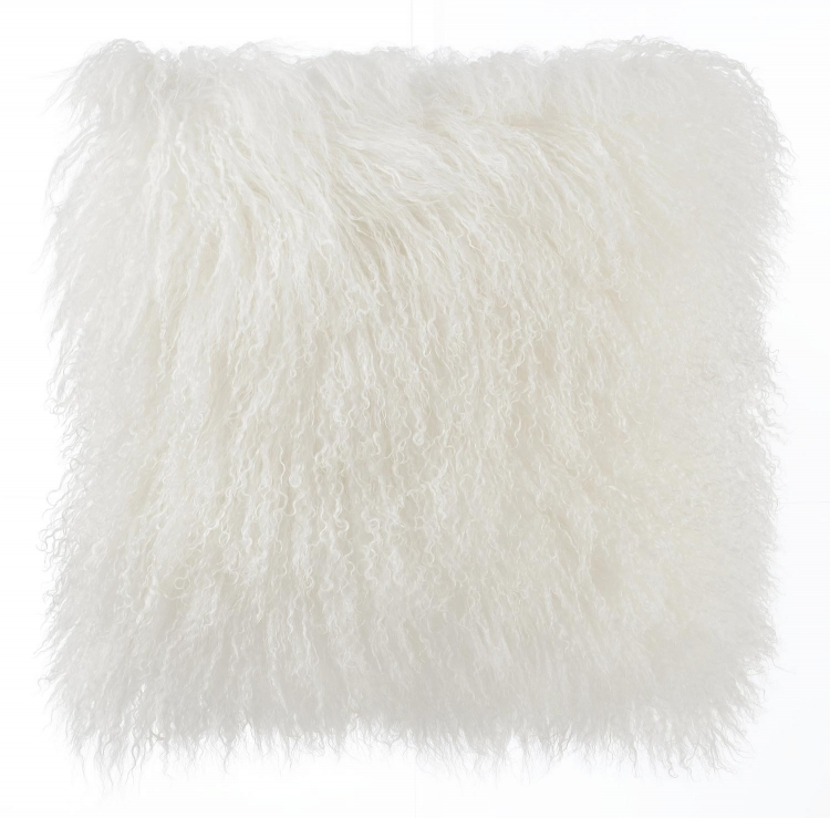 Tibetan Sheep Pillow - White