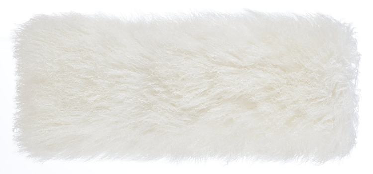 Tibetan Sheep Long Pillow - White