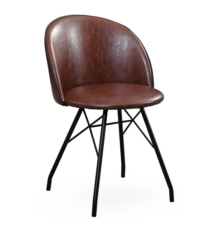 Branson Swivel Chair - Dark Brown/Black - Set of 2