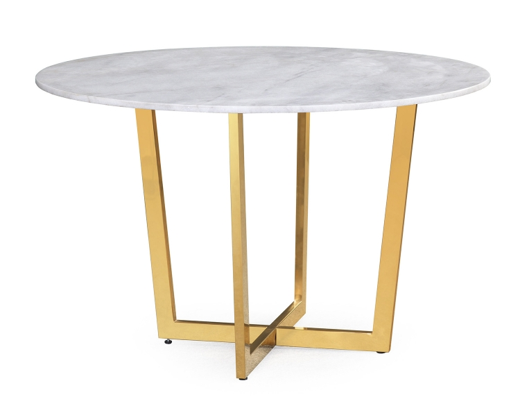 Maxim Dining Table - White/Gold