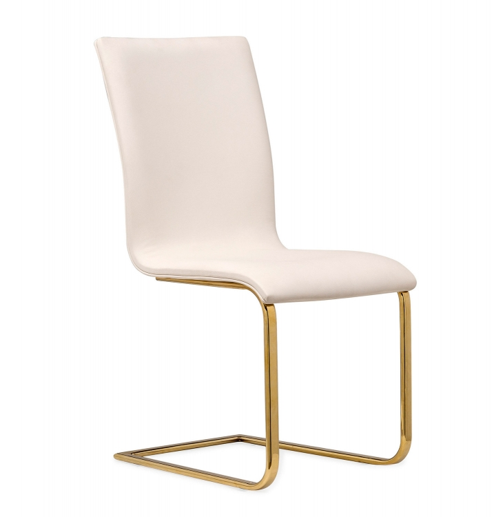Maxim Dining Chair - White/Gold - Set of 2
