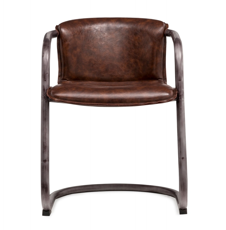 Colt Chair - Silver/Brown