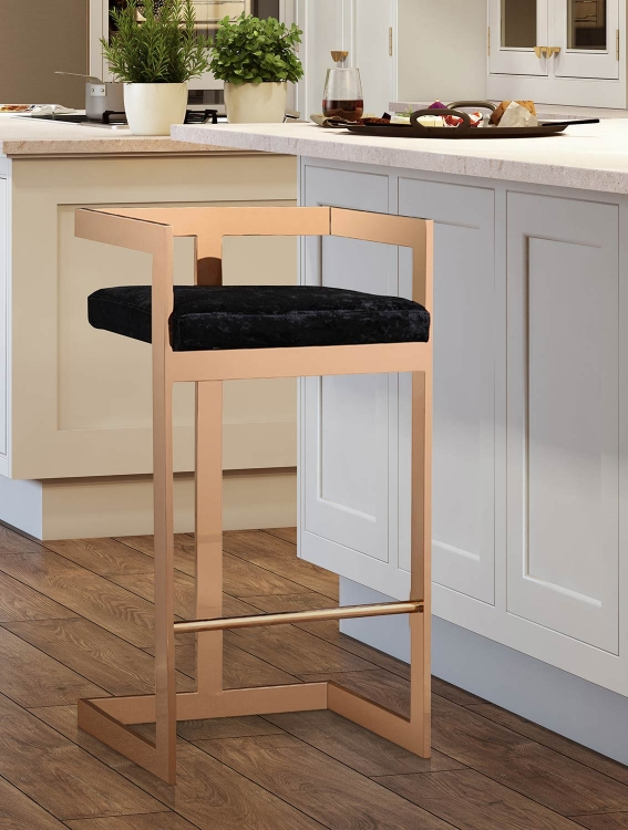 Marquee Bar Stool - Black/Gold