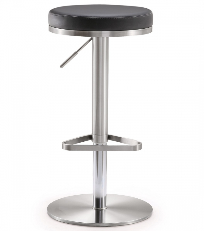 Fano Black Stainless Steel Adjustable Barstool