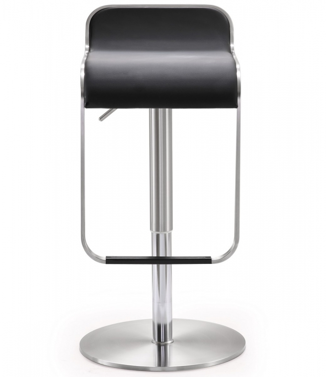 Napoli Black Stainless Steel Adjustable Barstool