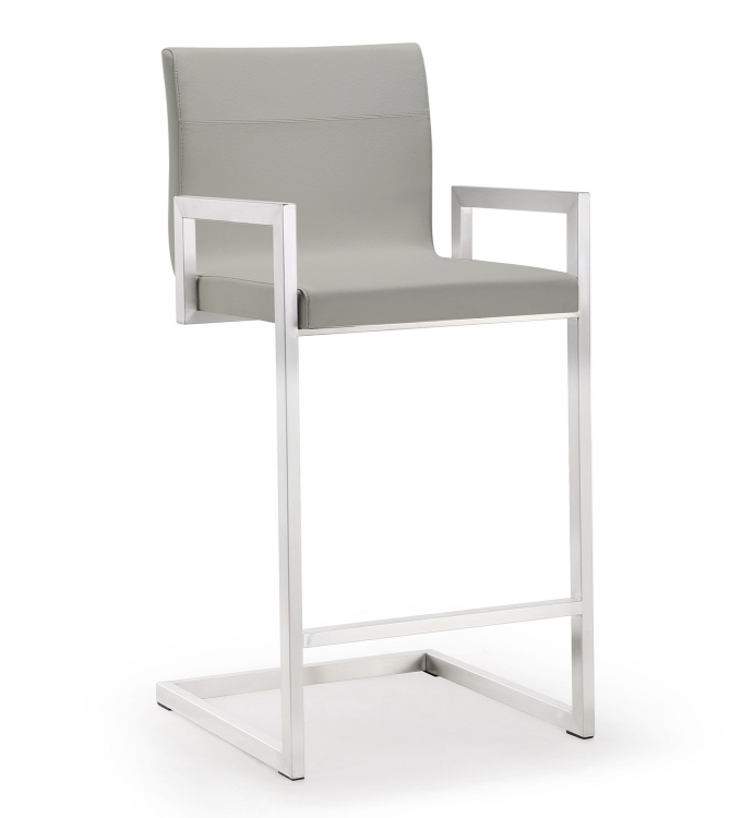 Milano Steel Counter Stool - Grey - Set of 2
