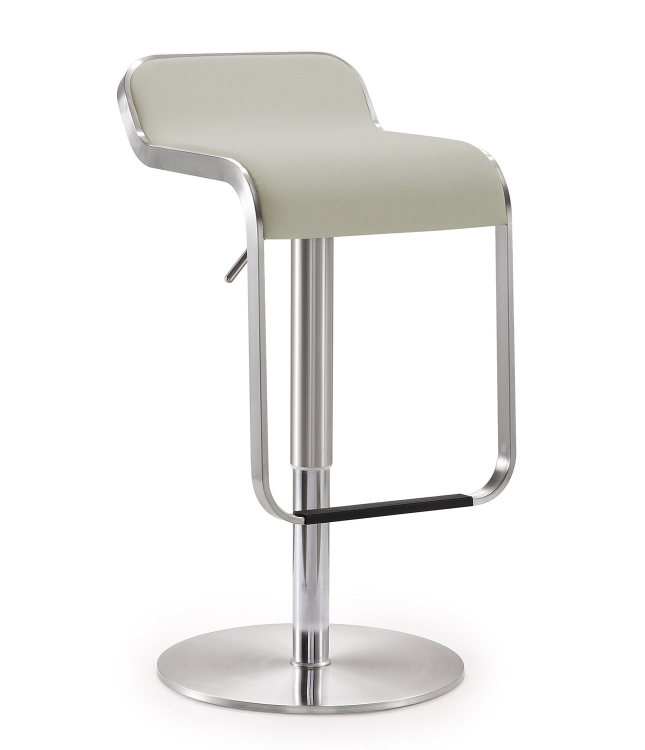 Napoli Steel Adjustable Barstool - White