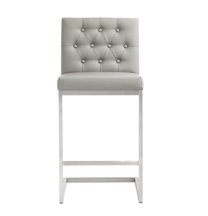 Helsinki Steel Counter Stool - Light Grey