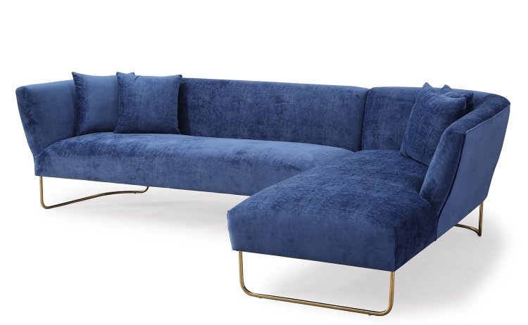 Caprice RAF Sectional Sofa - Navy