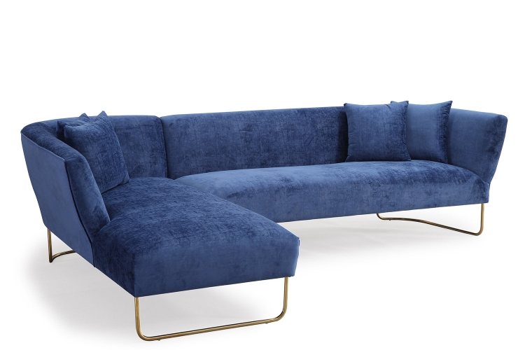 Caprice LAF Sectional Sofa - Navy