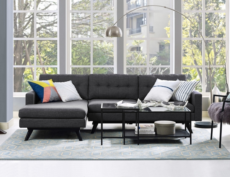 Blake Grey Linen LAF Sectional