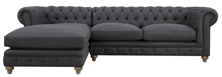 Oxford Grey Linen LAF Sectional