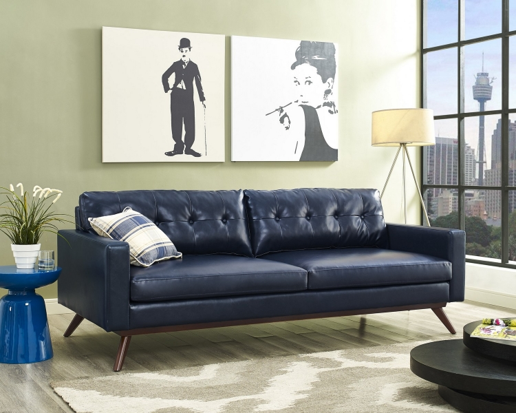 Blake Antique Blue Sofa