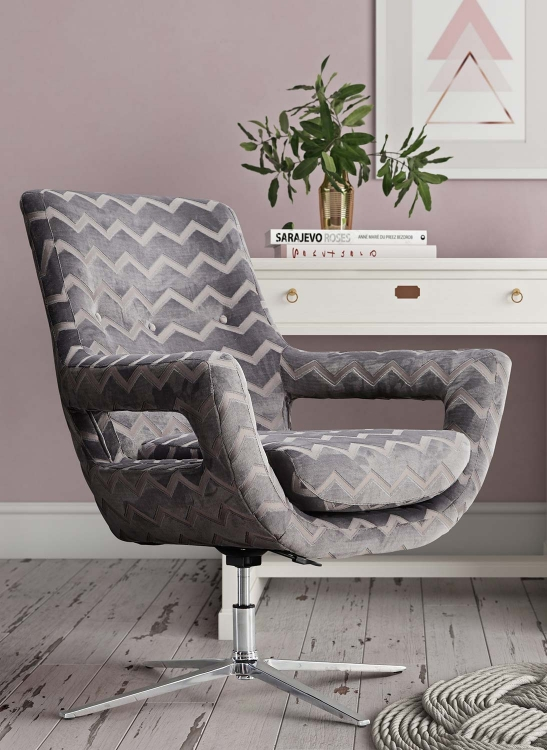 Fifi Swivel Chair - Grey